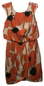 Jessica Simpson short dress cream, orange, black, beige on Tradesy