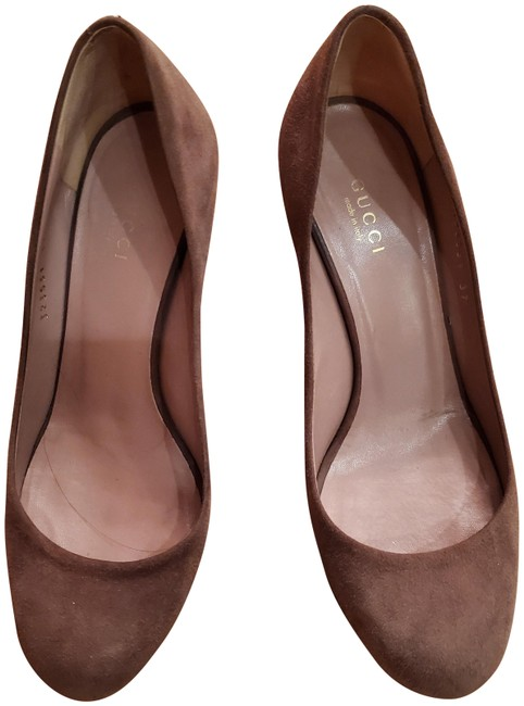 Item - Taupe/Purple Suede Wedges Size US 7 Regular (M, B)