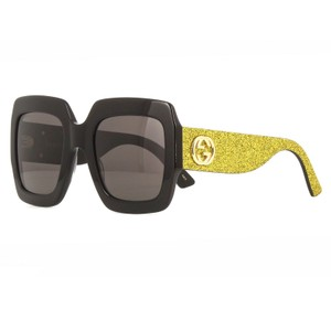 Gucci Oversized Large Style GG GG0102S 002 Glitter Square