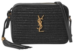 Saint Laurent Beach Summer Straw Ysl Cross Body Bag