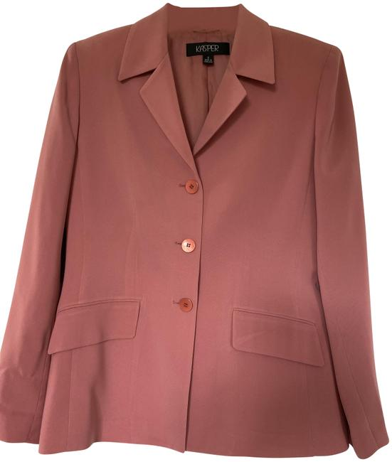 Item - Dark Pink / Peach Jacket In Very Good Condition Pant Suit Size 8 (M)