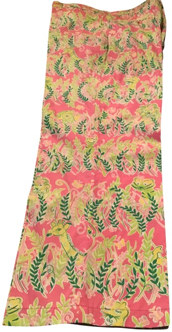 Item - Multi Color Tropical Patterned Summer Slacks Pants Size 14 (L, 34)