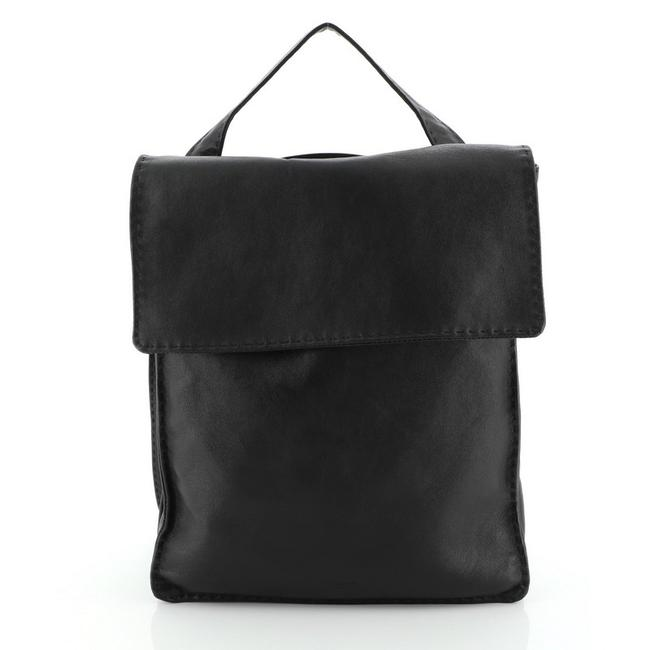 Item - Croissant Black Leather Backpack