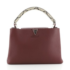 Louis Vuitton Exotic Leather Satchel in red