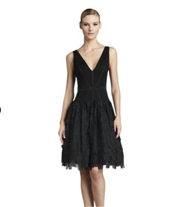 Aidan Mattox V-neck Chiffon Corset Party Dress