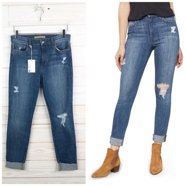 Item - Blue Medium Wash The Charlie High Rise Crop New Skinny Jeans Size 29 (6, M)