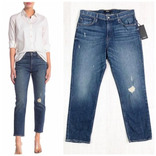 Item - Blue Distressed Jessi Relaxed Cropped Boyfriend Cut Jeans Size 29 (6, M)