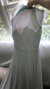 Jenny Yoo Serenity Blue Luxe Chiffon Faye Feminine Bridesmaid/Mob Dress Size 6 (S)