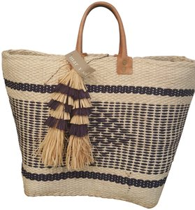 Mar Y Sol Tote in Navy/Off-White