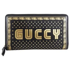 Gucci Guccy Moon and Stars Zip Around Wallet