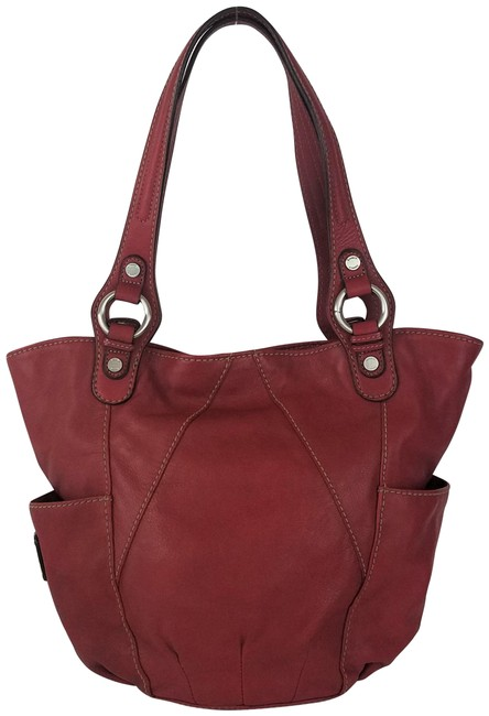 Tignanello Shoulder Bag Touchables Glam Red Leather Tote Tignanello Shoulder Bag Touchables Glam Red Leather Tote Image 1