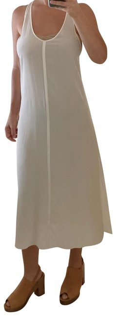 Item - White and Tan Waw20s30117r11 Mid-length Casual Maxi Dress Size 2 (XS)