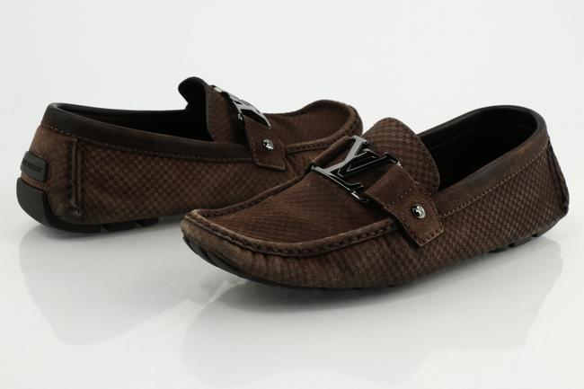 Item - Brown Monte Carlo Suede Loafer Shoes