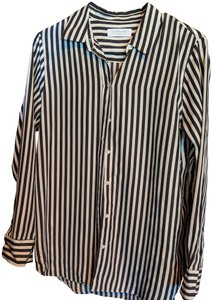 Everlane Button Down Shirt Black and white stripes