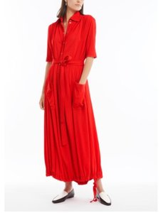 Red Maxi Dress by Burberry