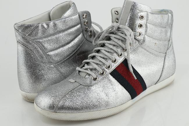 Item - Silver Glitter Web High-top Sneakers Shoes