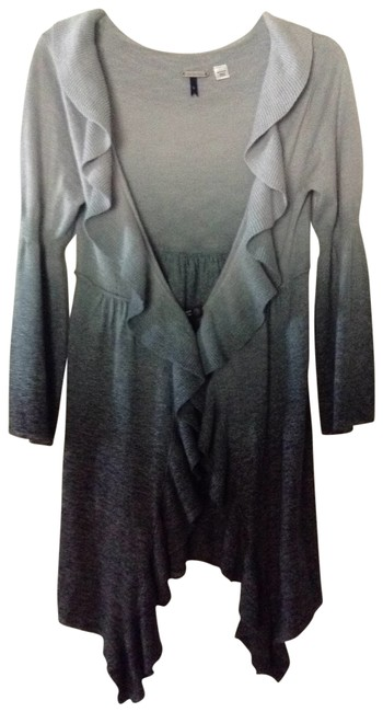 Language Ruffled Front With Shimmering Material Cardigan