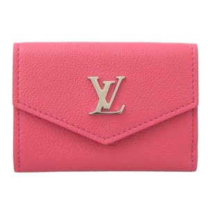 Louis Vuitton Authentic Louis Vuitton Portofeuil Lock Mini Tri-Fold Wallet Hot Pink