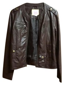 Pink Envelope Brown Leather Jacket