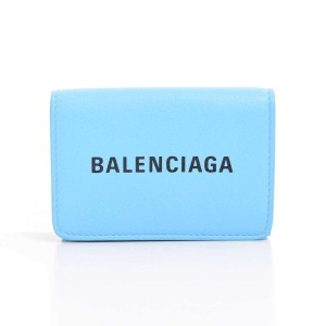 Balenciaga BALENCIAGA Everyday Compact Wallet Light Blue