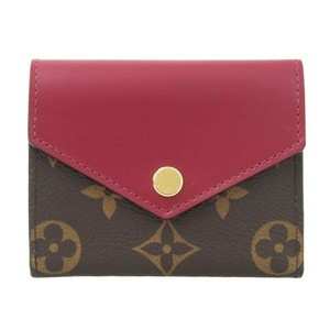 Louis Vuitton Louis Vuitton Monogram Portofeuil Zoe Tri-Fold Wallet Fuchsia M62932 Leather