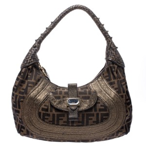Fendi Canvas Fabric Hobo Bag