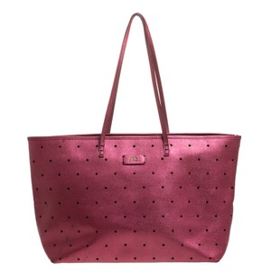 Fendi Suede Leather Tote in Purple
