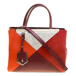 Fendi Leather Fabric Tote in Multicolor