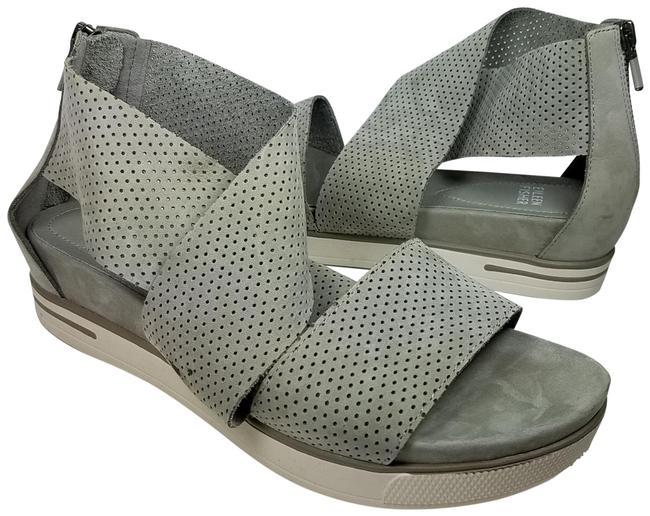 Item - Gray Women Sport 3 Perforated Nubuck Leather Sandals Size US 8.5 Regular (M, B)