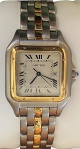 Cartier Carier Panthere watch Jumbo 1 row 18kt yellow gold and stainless