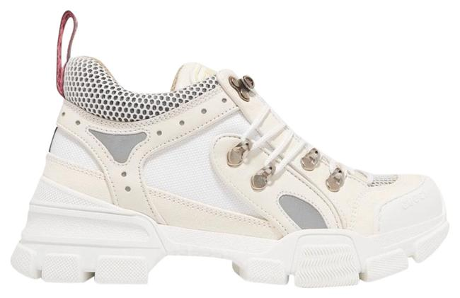 Item - White Flashtrek Leather Suede and Mesh Sneakers Size EU 37.5 (Approx. US 7.5) Regular (M, B)