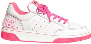 Chanel Sneakers White Sneakers Pink Neon Athletic
