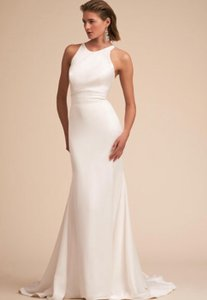 BHLDN Ivory Loretta Gown Feminine Wedding Dress Size 2 (XS)