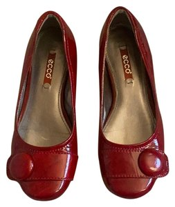 Ecco Cherry Red Flats