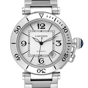 Cartier Cartier Pasha Seatimer Stainless Steel Silver Dial Mens Watch W31080M7