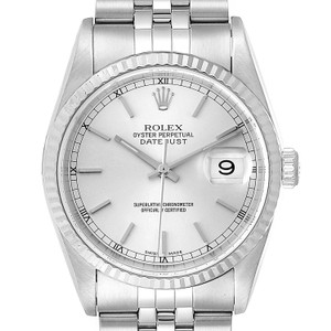 Rolex Rolex Datejust 36 Steel White Gold Tapestry Dial Mens Watch 16234