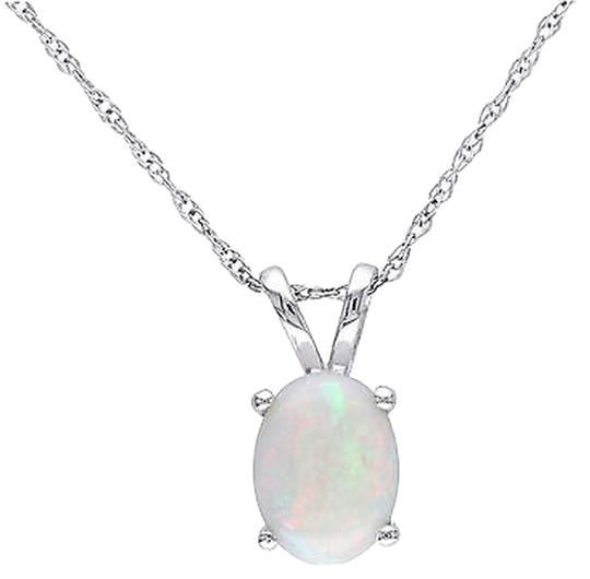 Preload https://item1.tradesy.com/images/10k-white-gold-oval-opal-pendant-necklace-with-chain-2739940-0-0.jpg?width=440&height=440