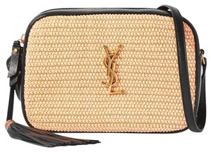 Saint Laurent Straw Ysl Cross Body Bag