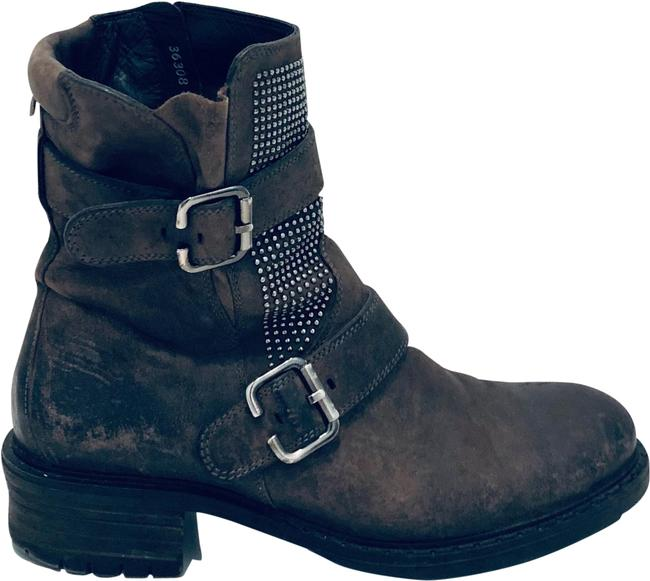 Item - Gray Motorcycle Boots/Booties Size US 7 Regular (M, B)