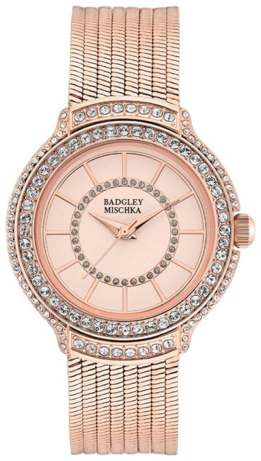 Item - Rose Gold And Crystal Embellished Watch