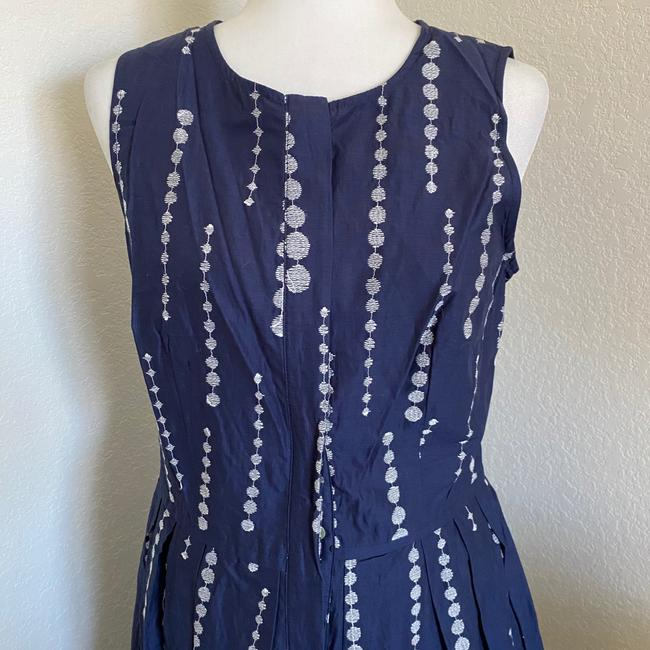 Taylor Navy Blue White Fit and Flare Sleeveless Short Casual Dress Size 8 (M) Taylor Navy Blue White Fit and Flare Sleeveless Short Casual Dress Size 8 (M) Image 2