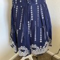 Taylor Navy Blue White Fit and Flare Sleeveless Short Casual Dress Size 8 (M) Taylor Navy Blue White Fit and Flare Sleeveless Short Casual Dress Size 8 (M) Image 3