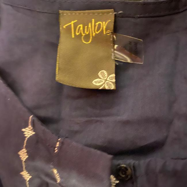 Taylor Navy Blue White Fit and Flare Sleeveless Short Casual Dress Size 8 (M) Taylor Navy Blue White Fit and Flare Sleeveless Short Casual Dress Size 8 (M) Image 7