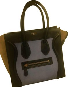 Céline Vintage Limited Edition Tote in Blue, Black
