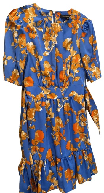 Item - Blue with Flowers Mid-length Casual Maxi Dress Size 0 (XS)