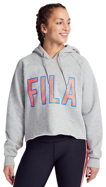 Fila Heather Grey X Soulcycle Caliana Sweatshirt Activewear Outerwear Size 8 (M) Fila Heather Grey X Soulcycle Caliana Sweatshirt Activewear Outerwear Size 8 (M) Image 1