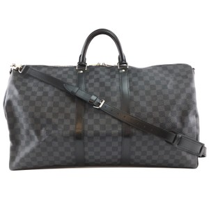 Louis Vuitton Keepall Bandouliere 55 Graphite Lv black Travel Bag