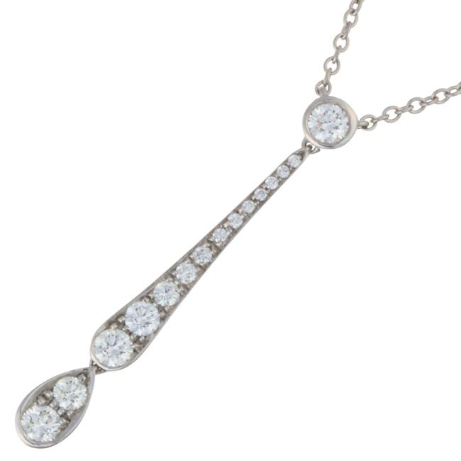 Item - Silver Jazz Drop Diamond Ladies Pt950 Platinum Dh56781 Necklace