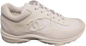 Chanel Sneakers Trainers Suede White Athletic