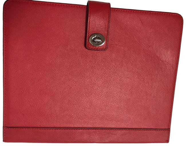 Item - Red Leather Ipad Case Tech Accessory
